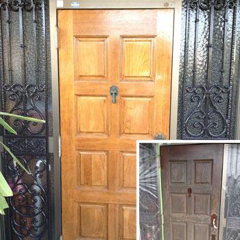 玄関建具・飾り塗替え